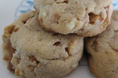 White Chocolate and Pretzel Peanut Butter Cookies with Seal Salt...yumm!
