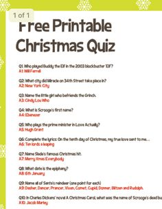 Christmas Party Games For Groups, Fun Christmas Party Games, Xmas Games, Holiday Games, Printable Christmas Quiz, Christmas Riddles, Christmas Activities, Kids Christmas, Christmas Quiz With Answers