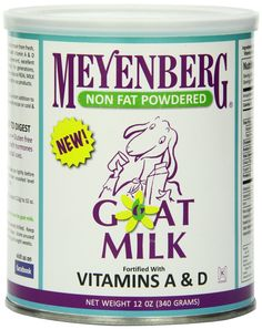 Amazon.com : Meyenberg Non Fat Powdered Goat Milk, Vitamins A&D, 12 Ounce : Goat S Milk Powder : Grocery & Gourmet Food