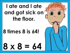 Multiplication Rhymes for the trickier facts! Laughter and Consistency: Freebie Five for Friday