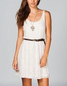 FULL TILT Bar Back Lace Dress