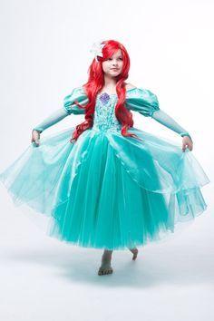 Ariel Disney Inspired Dress Ariel's Green Dress from by EllaDynae Disney Inspired Dresses, Disney Dress Up, Ariel Dress, Disney Princess Dresses, Ariel Costumes, Princess Costumes, Fantasia Disney, Ariel Disney, Trendy Dresses