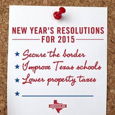 Facebook graphic for Dan Patrick with New Year's Resolutions for Texas in 2015. With creative content and innovative digital strategy, our team at Harris Media is building winning campaigns across the nation. Find out how we can help your cause: www.harrismediallc.com