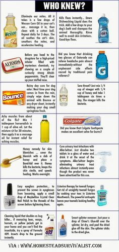Homemade cleaning products to save money.