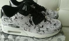 NYC-air-max-90-black-white-floral-city-pack-girls-womens-adult-trainers-uk-4-5