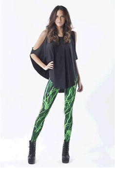 Toxic Electro Green Leggings