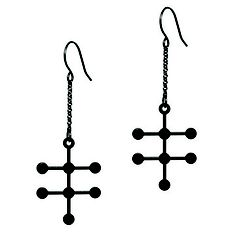 Alcohol Earrings, $40, now featured on Fab. [Tania Hennessy, Aroha Silhouettes]