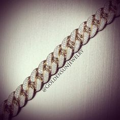 GOLDEN SUN JEWELRY: Solid and heavy pave set diamond Cuban link bracelet. Summer is coming; how are you going to stand out? @goldensunjewelry #goldensunjewelry #gold #cubanlink #bracelet #diamond #designer #fashion #fashionista #flawless #stunning #miami #jewelry #clean #vvs #14kt #bling #niketalk #wshh #pave #goldbracelet #nyc #vegas #detroit #l4p #luxury #gia #kilogang