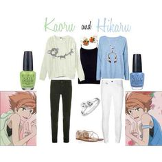 Hikaru and Karou casual cosplay