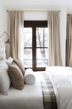 Home Interior Wood old country farmhouse // Master Bedroom with Casement Windows //.Home Interior Wood old country farmhouse // Master Bedroom with Casement Windows // Trendy Bedroom, Cozy Bedroom, Modern Bedroom, Bedroom Ideas, Bedroom Designs, Bedroom Red, Contemporary Bedroom, Taupe Bedroom, Jungle Bedroom