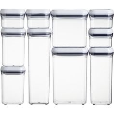 Pop Container Boxed S10F9 - Great storage for pantry &/or art/craft supplies.