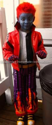 Homemade Holt Hyde from Monster High Costume: Austin is Holt Hyde from the Monster High cartoon. Since the manufacturers do not make the boy costumes, his Mom decided to make one for him. The entire