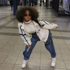 Image may contain: one or more people, child and outdoor Black Girl Fashion, Look Fashion, 90s Fashion, Fashion Outfits, Celebrities Fashion, Hip Hop Fashion, Tomboy Fashion, Hipster Fashion, Fashion Fall
