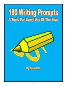 180 Writing Prompts $6.00