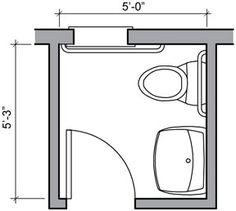 Half Bath Floor Plan Ideas 24 Square Foot Half Bath With