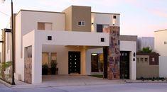 fachada-de-casas-de-dos-plantas-con-ventanales