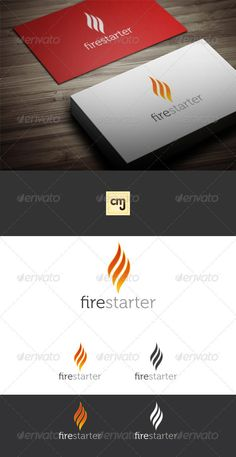 Fire Starter Logo Template — Vector EPS #android #hot • Available here → https://graphicriver.net/item/fire-starter-logo-template/2789977?ref=pxcr