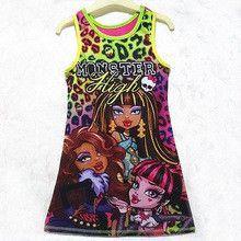 Monster School Kids Girls Dress