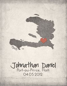 Haiti Map with Heart - Adoption Announcement Haiti Adoption, Haiti Tattoo, Prince Tattoos, Favorite Son, Small Letters, Reading Material, Body Tattoos, Tatting, Body Art