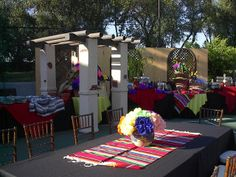 fiesta themed party ideas   At this fiesta theme birthday party for 230 guests, a staff member ...