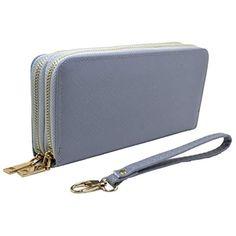 b1a633b6e6 Portafoglio Donna Grande Eco Pelle con Cerniera Zip e Portamonete  #Abbigliamento #Donna #Lingerie