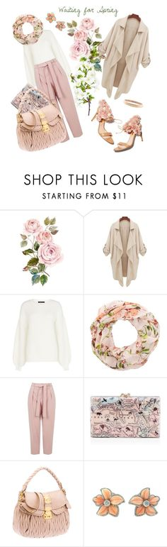 """Waiting for spring and Cherry Blossoms!"" by ralkel ❤ liked on Polyvore featuring BCBGMAXAZRIA, Topshop, Rupert Sanderson, Chanel, Pink, pretty, Flowers, light and spring2016"