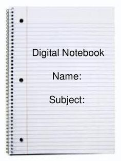 TeacherLingo.com $1.49 - Use this paperless digital notebook in your classroom for students to take notes in.  This template can be posted on a website, downloaded by students, and used on computers in the classroom! (In Powerpoint form)
