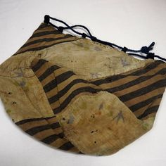 Interior of an antique Japanese Komebukuro rice bag sold from the collection of Kimonoboy.