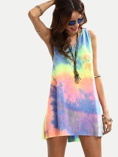 Sleeveless Knot Shift Dress #fashion
