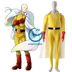 One Punch Man Caped Baldy Saitama Fighting Uniform Anime Cosplay Costume  #onepunchman #saitama #cosplay #costume