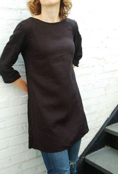 smocked continental tunic (Lisette Continental Blouse smocked at the back & lengthened into a tunic)