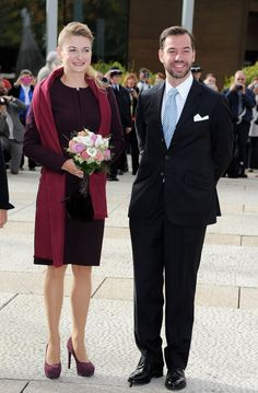 Countess Stephanie de Lannoy - The Wedding Of Prince Guillaume Of Luxembourg & Stephanie de Lannoy - Civil Ceremony