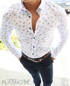 Camisa blanca detalle hojas color aqua/green Slim Fit hecha en México por TiendasPlatino $549 #YesbethJewelry #Moda #Men #Tiendasplatino #camisa #SlimFit #camisaformal #hechoenmexico #menswear #menstyle #menfashion #quotes #lifequotes #frases #éxito #Highlife #highfashion ##Yesbeth #México #Platino #modamexicana #modamexico De venta en Tiendas Platino www.tiendasplatino.com.mx