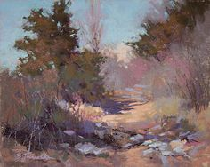 Perfect Day for a Hike by Barbara Jaenicke Pastel ~ 8 x 10