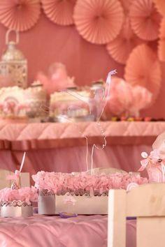 Pink Party aniversário da bailarina via Idéias do partido de Kara |. Kara'sPartyIdeas com # # Ballet PartyIdeas # Suprimentos # Girl # Pink (17)