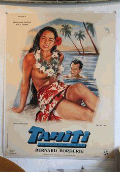 """Tahiti"", ""Lust for Life"" Original Vintage Film Poster"