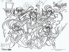 free sailor moon tuxedo mask coloring pages - Google Search