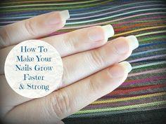 How To Make Your Nails Grow Faster & Strong At Home - DIY! It works so well trust me ❤️ Make Nails Grow, Grow Nails Faster, Nail Growth, Strong Nails, Healthy Nails, Nail Treatment, Love Nails, Natural Nails, Diy Nails