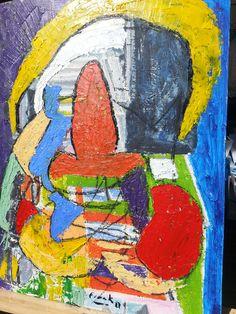 """Paradys"" deur Frank Wright. Oil on hardboard. $1000"