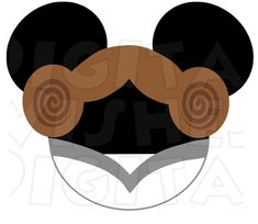 Princess Laia in Mickey head INSTANT DOWNLOAD digital clip art :: My Heart Has Ears