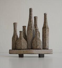 Maggie Williams Miniature Tableaux: Stripes are in. Miniatures, Stripes, Ceramics, Home Decor, Homemade Home Decor, Mini Things, Ceramic Art, Clay Crafts, Interior Design