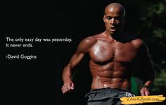 Beyond Motivation: David Goggins chooses to run the toughest races and put himself through some of the hardest military training programs in the country for no other reason than to see what he's made of. Athlete Motivation, Body Motivation, Workout Motivation, Navy Seals, David Goggins, Motivational Quotes, Inspirational Quotes, Endurance Training, Military Training