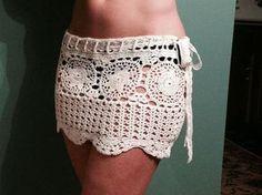 Falda de playa ganchillo por PerfectShelf en Etsy