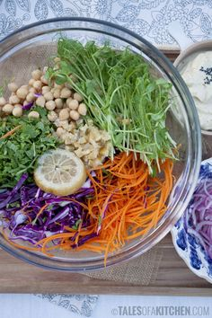 middle eastern rainbow salad