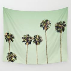 Palm Trees Wall Tapestry by Laura Ruth | Society6