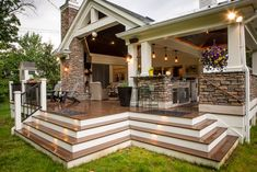 Remodeling Portfolio - Maile, Tekulve & Gray living space covered back yard Backyard Patio Designs, Patio Ideas, Back Deck Ideas, Backyard Porch Ideas, Building A Porch, House With Porch, Outdoor Rooms, Outdoor Dining, Indoor Outdoor