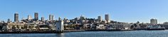 Skyline of San Francisco from Pier 39