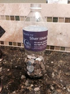 This is an awesome way to fundraise for RFL & recycle at the same time... Dimes/SodaBottle