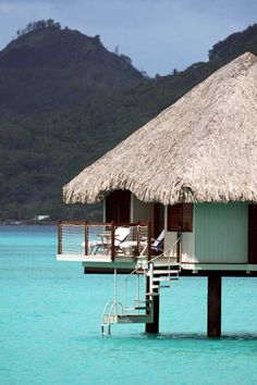 To send Mom & Dad to some place like this for a good weeks! I bet this could soak away at least of stress don't ya think? (Pinner says its Le Meridien Bora Bora) Vacation Places, Vacation Destinations, Dream Vacations, Vacation Spots, Places To Travel, Great Places, Places To See, Beautiful Places, Bora Bora
