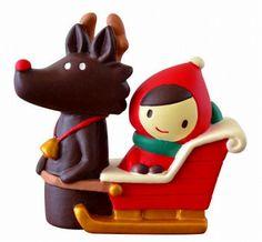 拡大イメージ表示 Merry Christmas Little Red Riding Hood and Wolf - Decole Japan